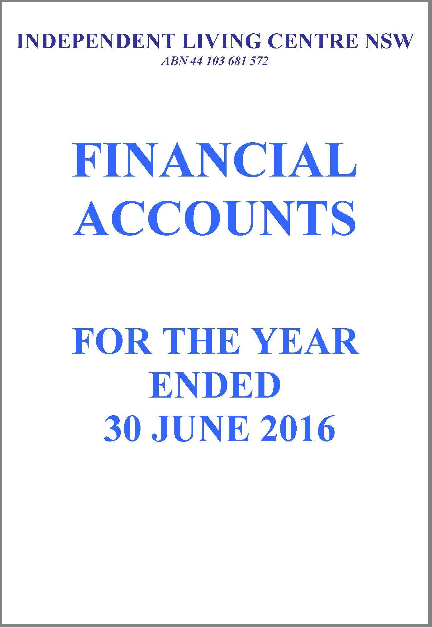 2015-2016 ILC Financial Report