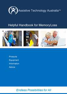 cover of handbook for memory loss booklet