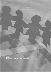 Cover of the 2006-2007 Annual Report. Connecting People.