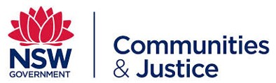 Logo for NSW Government Department of Communities and Justice
